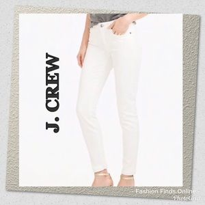 J. Crew toothpick skinny ankle crops white size 28